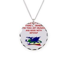 dragon humor on gifts and t-s Necklace