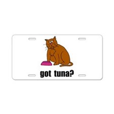 Got Tuna Cat Aluminum License Plate