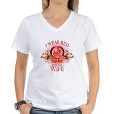 I Wear Red For My Wife (floral) Shirt