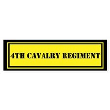 4th Cavalry Regiment Bumper Sticker
