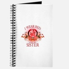 I Wear Red For My Sister (floral) Journal