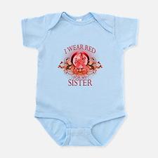 I Wear Red For My Sister (floral) Infant Bodysuit