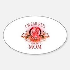 I Wear Red For My Mom (floral) Decal