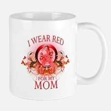 I Wear Red For My Mom (floral) Mug