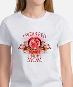 I Wear Red For My Mom (floral) Tee