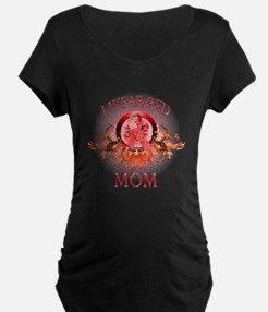 I Wear Red For My Mom (floral) T-Shirt
