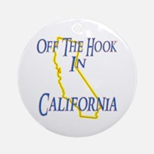 Off the Hook in CA Ornament (Round)