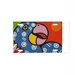 Tropical Parrot Aluminum License Plate