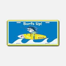 Surf's Up Aluminum License Plate