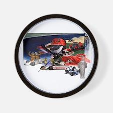 Indy Cars Wall Clock
