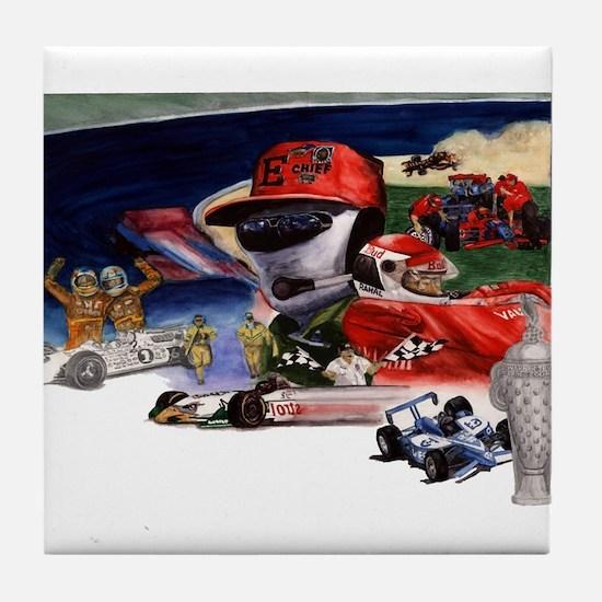 Indy Cars Tile Coaster
