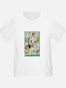 Vintage Easter Egg Bunny T
