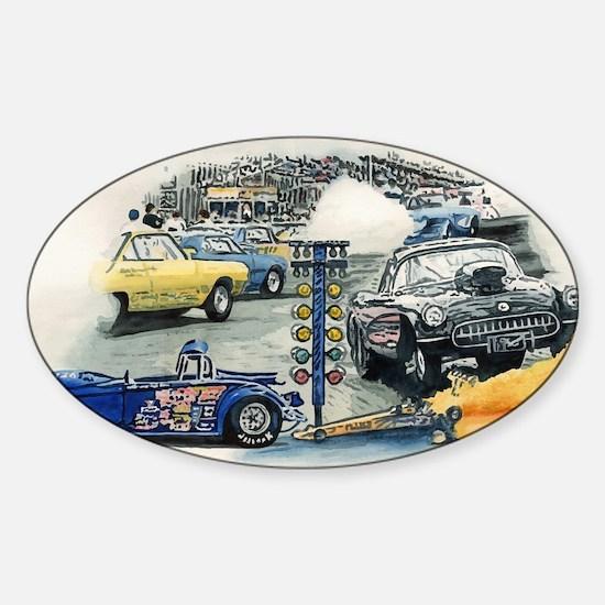 Drag Race Stuff Sticker (Oval)