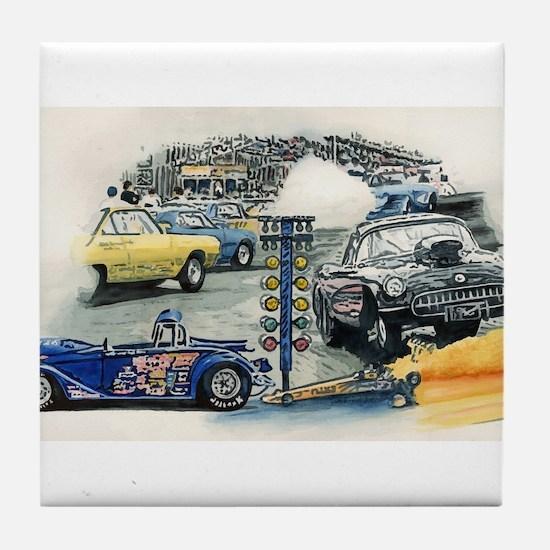 Drag Race Stuff Tile Coaster