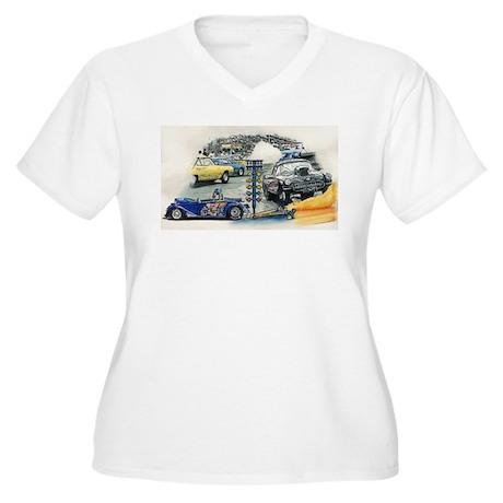 Drag Race Stuff Women's Plus Size V-Neck T-Shirt