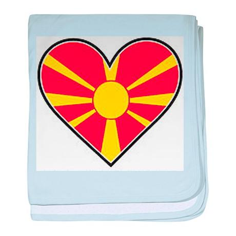 Macedonia Heart Flag baby blanket