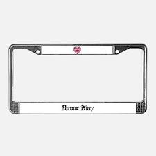 """Barbed"" Heart License Plate Frame"