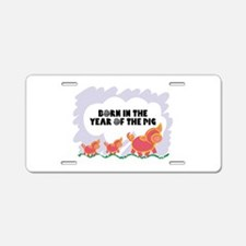 Year Of The Pig Aluminum License Plate