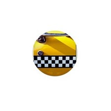 Checker Cab No. 8 Mini Button