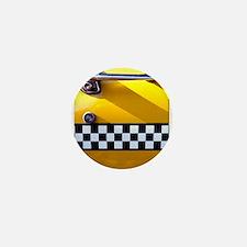 Checker Cab No. 8 Mini Button
