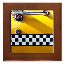 Checker Cab No. 8 Framed Tile