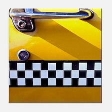 Checker Cab No. 8 Tile Coaster