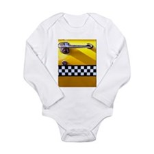 Checker Cab No. 8 Long Sleeve Infant Bodysuit