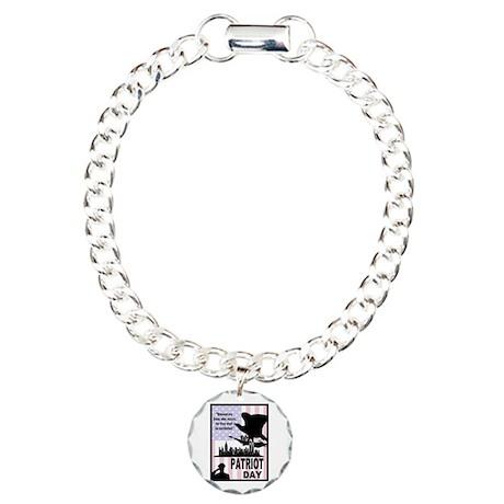 Patriot Day 911 Charm Bracelet, One Charm