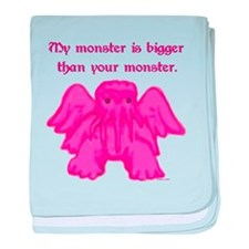 My Monster is Bigger than Your Monster baby blanke
