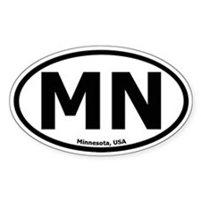 Minnesota Oval Decal
