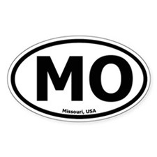 Missouri Oval Bumper Stickers