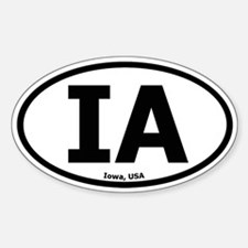 Iowa Oval Stickers