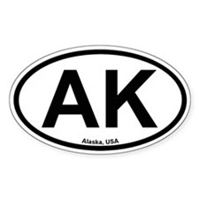 Alaska Oval Bumper Stickers