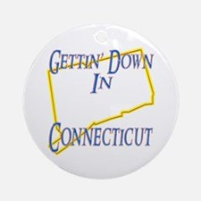 Gettin' Down in CT Ornament (Round)