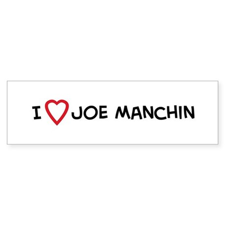 I Love Joe Manchin Bumper Sticker