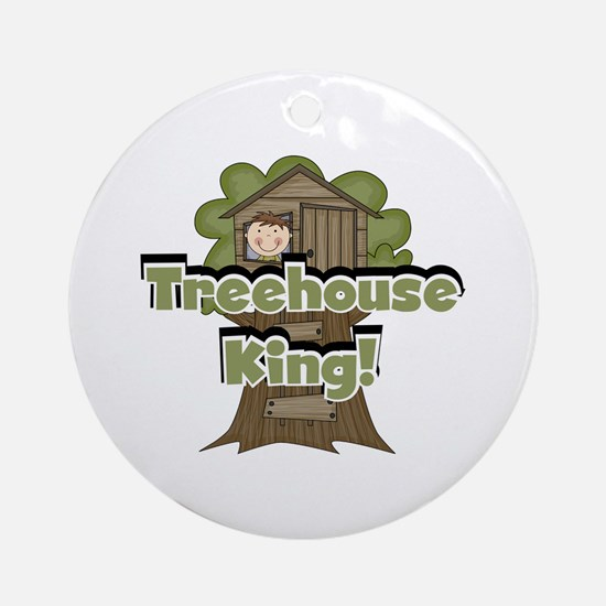 Treehouse King Ornament (Round)