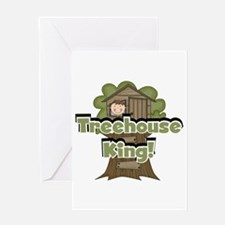 Treehouse King Greeting Card