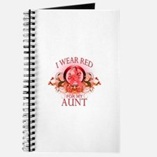 I Wear Red For My Aunt (floral) Journal