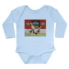 Funny Duck teacher Long Sleeve Infant Bodysuit