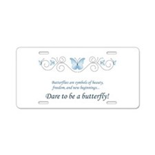 Butterfly Challenge Aluminum License Plate