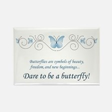 Butterfly Challenge Rectangle Magnet