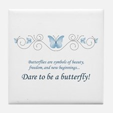 Butterfly Challenge Tile Coaster