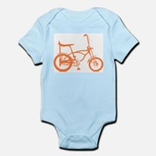 Retro Orange Banana Seat Bike Infant Bodysuit