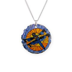 Stained Glass Dragonfly Necklace