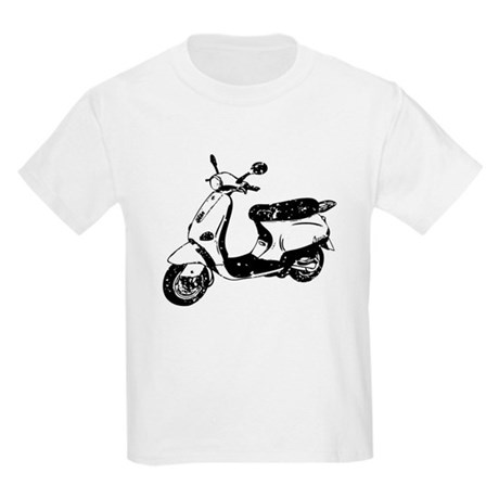 Vespa Scooter Kids Light T-Shirt