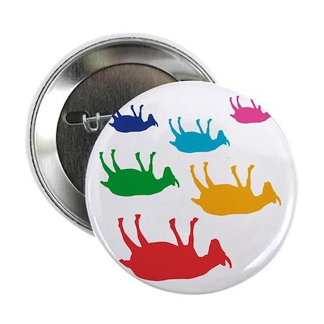 """Fainting Goats Rainbow 2.25"""" Button"""