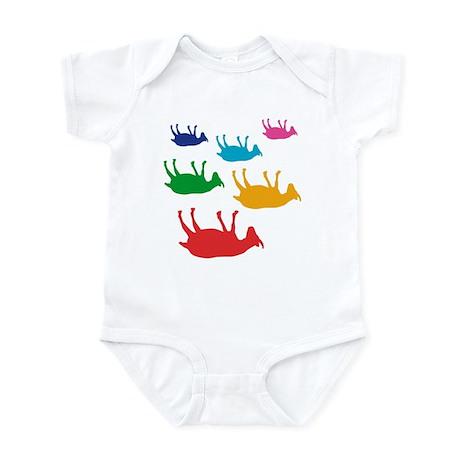 Fainting Goats Rainbow Infant Bodysuit