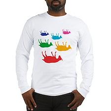 Fainting Goats Rainbow Long Sleeve T-Shirt