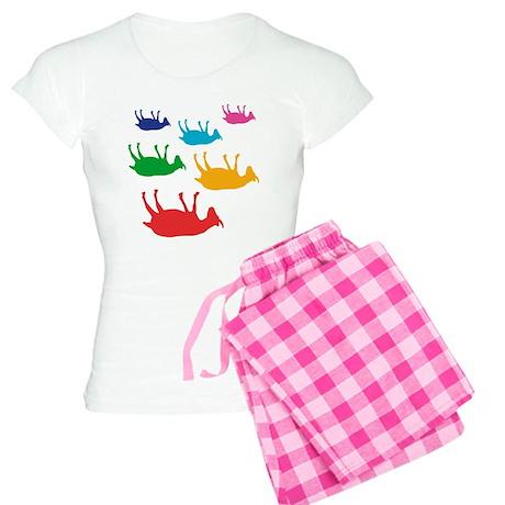 Fainting Goats Rainbow Women's Light Pajamas