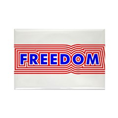 FREEDOM Rectangle Magnet (10 pack)